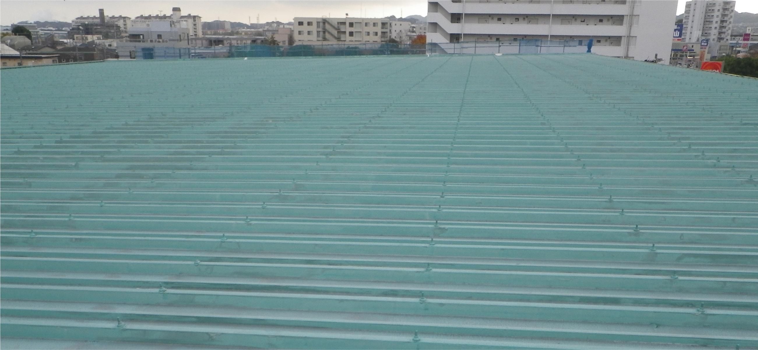 横浜ボウリング場屋根<br>防水工事修繕工事